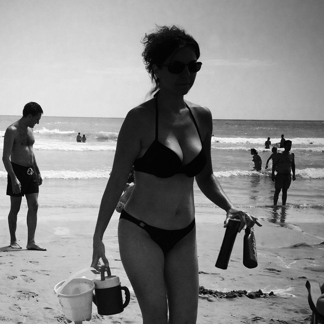 Sea Vacations Woman Bw #bnw #BWcollaboration #istanbul #blackwhite #blackandwhite