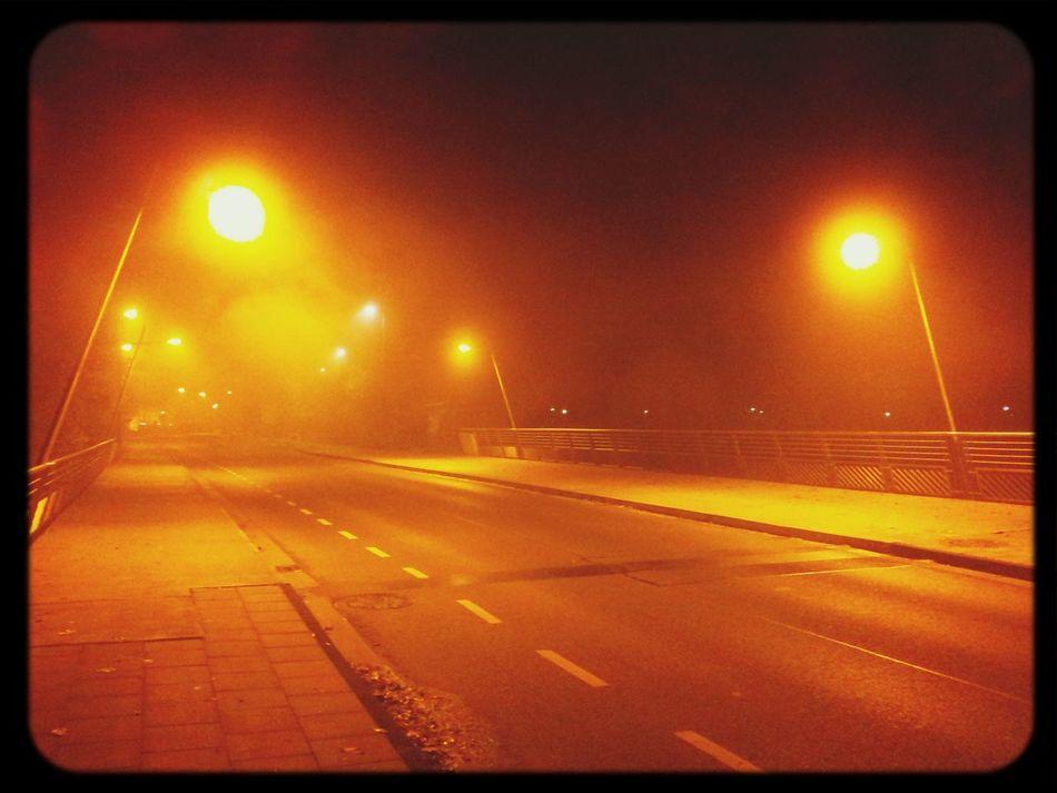 4:30 Uhr... Einen wunderschönen Guten Morgen :-) Brücke Erft Bridge Nebel Bergheim