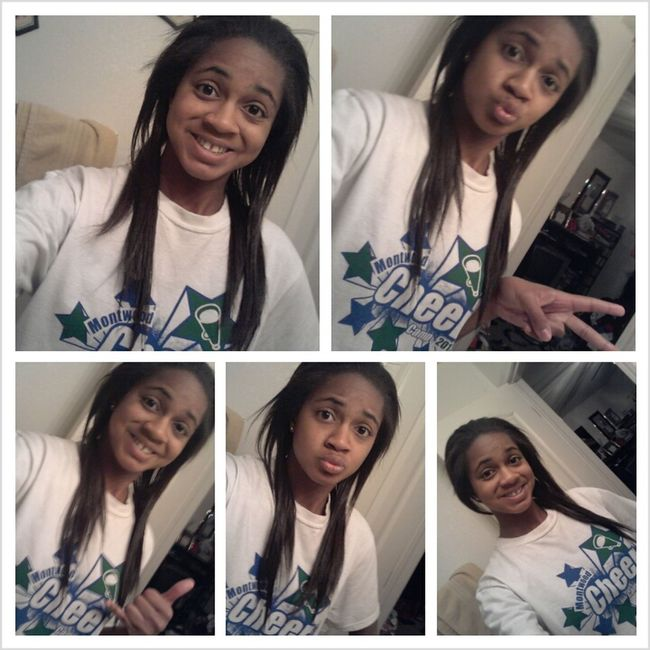 Finished straightening my hair(:
