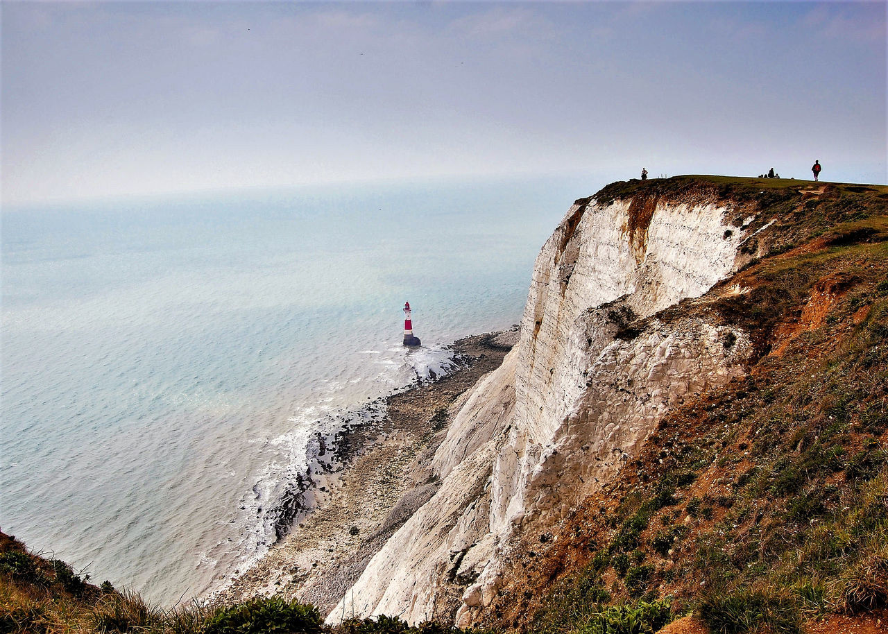 Beachy Head Beauty In Nature Cliff Horizon Over Water Lighthouse Nature Outdoors Scenics Sea Tranquility