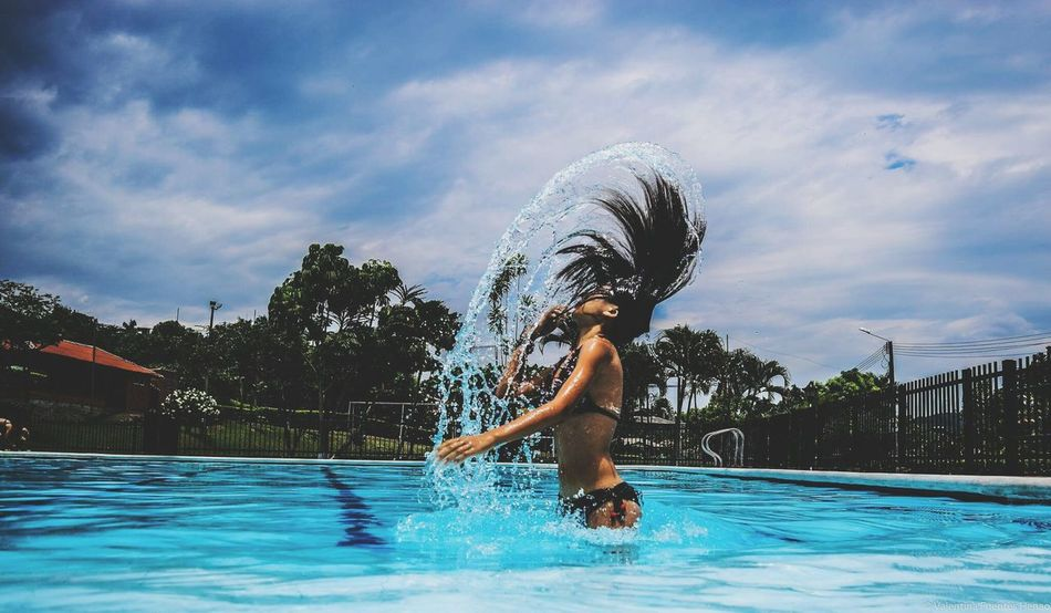 Beautiful stock photos of schwimmen, leisure activity, lifestyles, motion, water