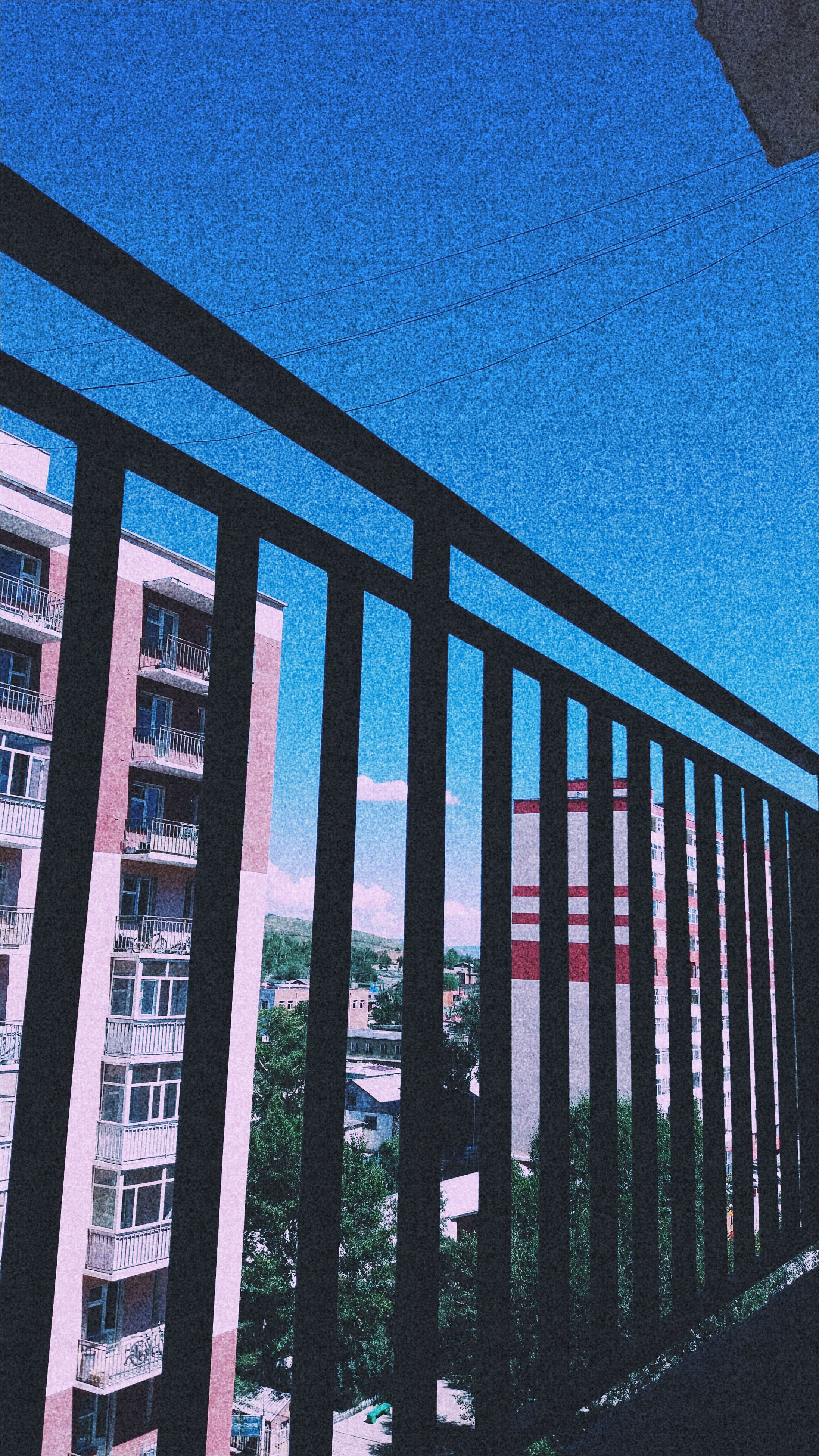 architecture, built structure, day, blue, no people, window, outdoors, clear sky, building exterior, nature, tree, sky