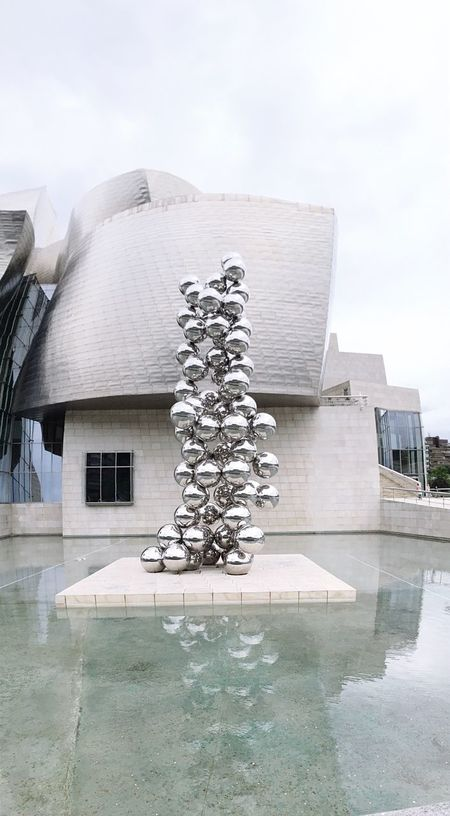 Sculptural... Geometric Shapes Architecture_collection Guggenheim Bilbao Architecture Panorama Architectural Detail Reflections Anish Kapoor The Architect Arc+