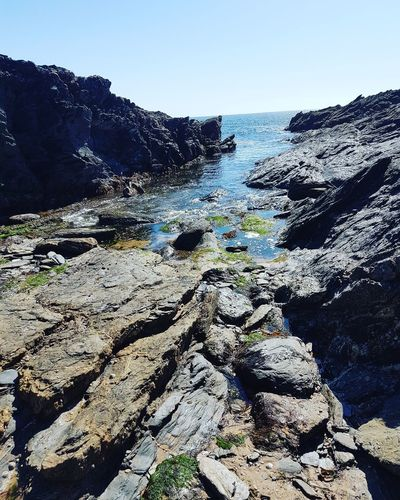 Nature Day Outdoors Sky Beach Sea Beauty In Nature Water No People Rocks Rockpool Naturephotography Peaceful Sunshine Clearsea Clearsky Plymouth Summerday Landscape Tranquillity Summer Seaweed EyeEmNewHere