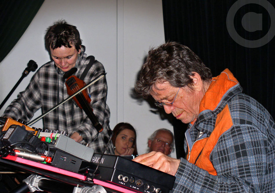 Photo I took of Lou Reed and Laurie Anderson performing together at The Stone, corner of Ave. C and 2nd St., New York City, Feb. 2011 East Village Electronic Music Experimental Music John Zorn Laurie Anderson Live Concert Lou Reed Loureed Music New York City Noise Music Portrait Rock Rock Music Rock Music Gigs Concerts Inspiration Synthesizer Velvet Underground Violin First Eyeem Photo