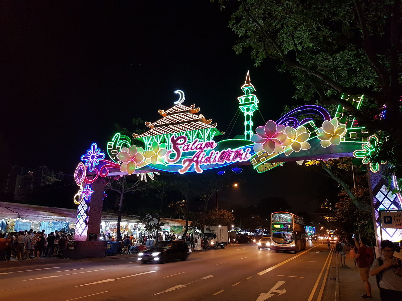 Illuminated Night Celebration Christmas Decoration Building Exterior Outdoors Christmas Christmas Lights Sky Fame Architecture No People Christmas Market Aidilfitri Salamlebaran Harirayaaidilfitri
