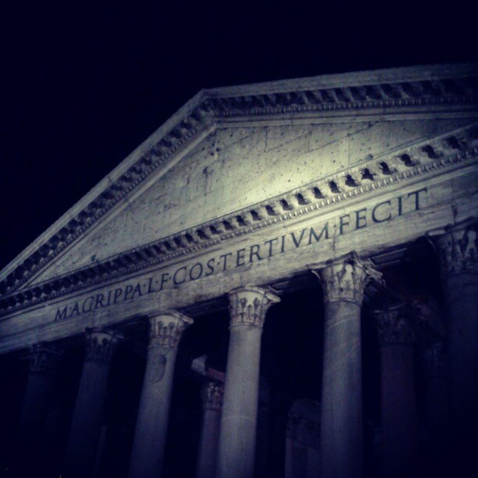Pantheon Night Rome Piazzadellarotonda Roma Italy Italia Monument Church