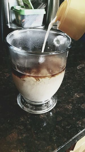Drink Refreshment Drinking Glass Freshness One Person Adults Only People One Woman Only Indoors  Close-up Day Low Section Warmth Winter Morning Coffee Morning Rituals Coffee Time
