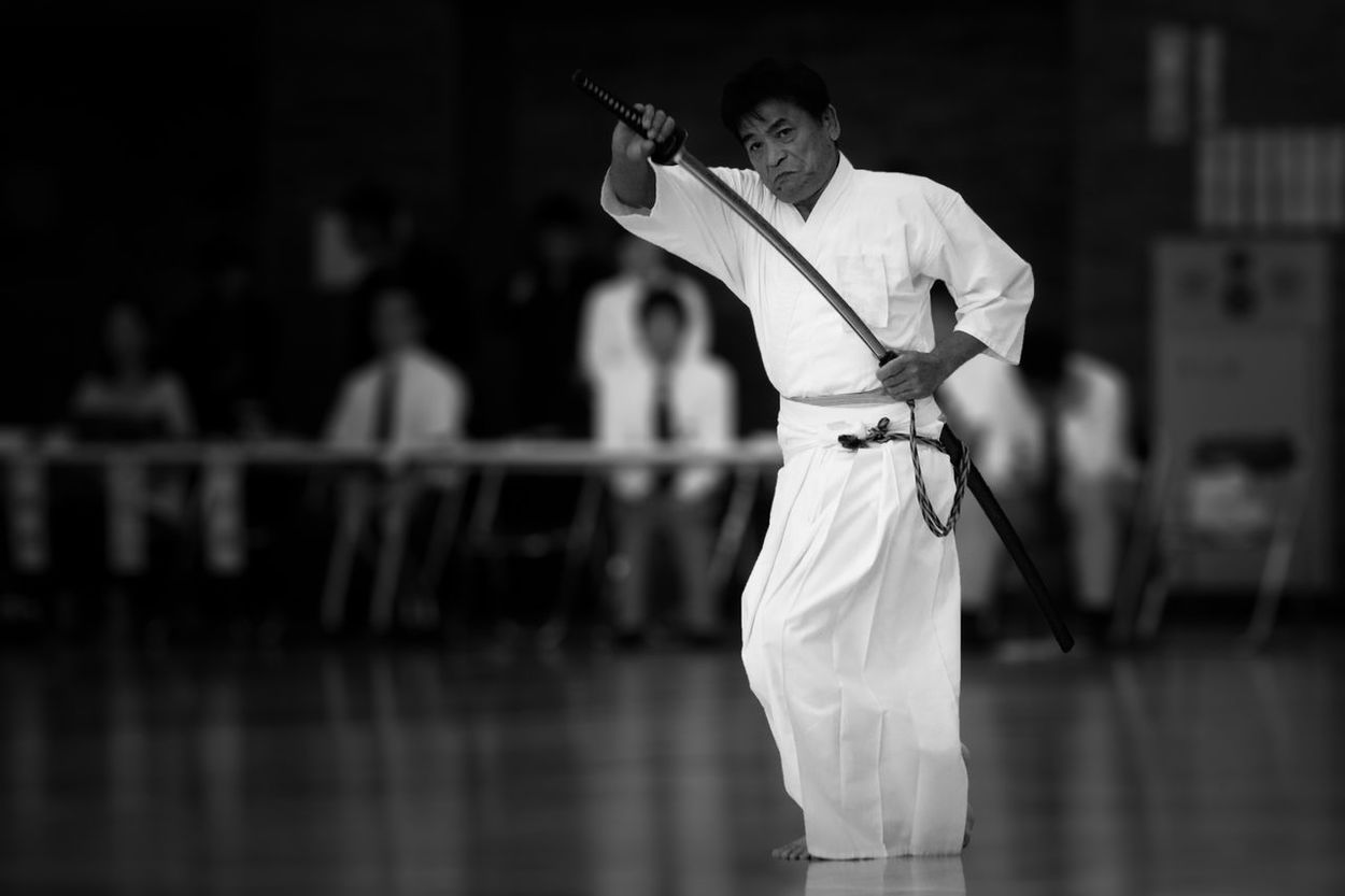 Alone Black & White Black And White Black&white Blackandwhite Blackandwhite Photography Exhibition Iaido Indoors  Kendo Men Sport Sports Sports Photography Sportsphotography Standing The Portraitist - 2016 EyeEm Awards