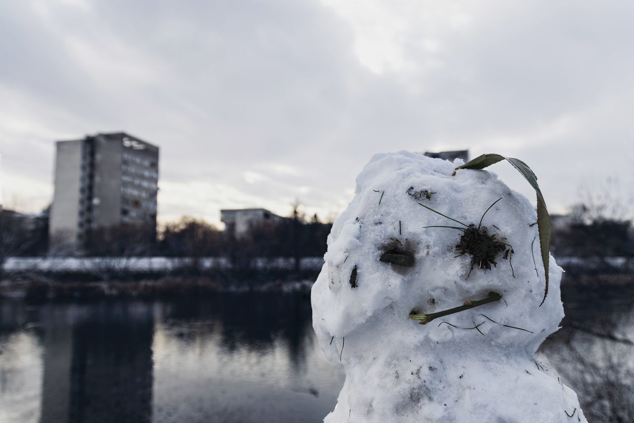 Architecture Building Built Structure City City Life Close-up Cold Cold Days Cold Temperature EyeEm Best Shots EyeEm Nature Lover Nature Portrait Reflection Sky Sky And Clouds Snow Snow ❄ Snowman Snowman⛄ Taking Photos Water Waterfront Winter Wintertime