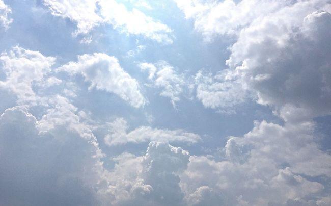 Sunshine ☀ Sunlight And Summer Clouds Summer 2016 Hot Summer Sky Summer Clouds Summer Sky And Clouds