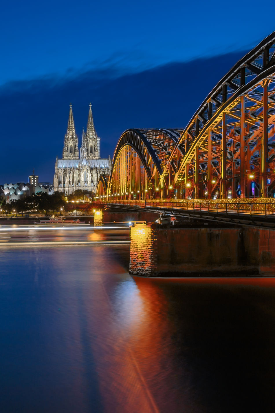 Architecture Art Austrianphotographers Bridge - Man Made Structure Building Exterior Built Structure City Connection GERMANY🇩🇪DEUTSCHERLAND@ Illuminated Köln, Germany Kölner Dom Langzeitbelichtung Long Exposure Night No People Outdoors River Sky Transportation Travel Destinations Water Waterfront Art Is Everywhere EyeEm Diversity The Secret Spaces