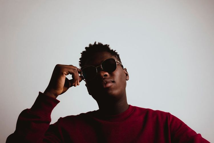 Samuel, My Italo-ghanaian Friend Sunglasses Real People Young Adult One Person Young Men Studio Shot Lifestyles Leisure Activity Sky Clear Sky Outdoors Young Women Day Adult People