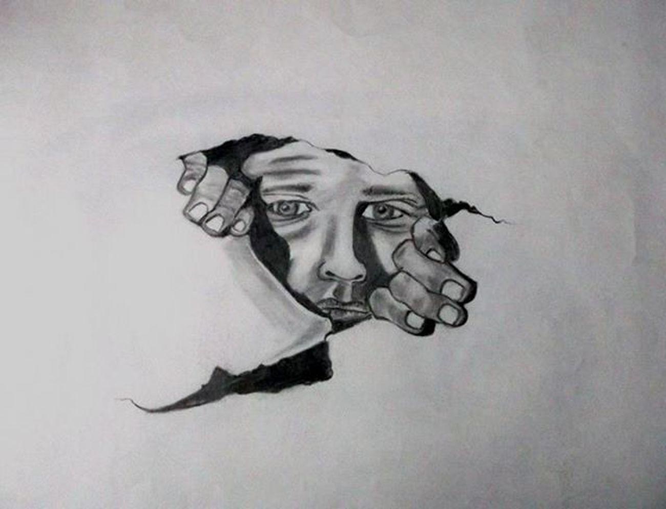 Illusion Artist Sketch Sketchers Sketchbook ArtWork Art Recreation  Coverartwork Graphicdesigner Rapper Imagination Pencil Pencilsketch Inktober Popularpic HASHTAG Like Endhrance Tearing People Darkness Light Seek