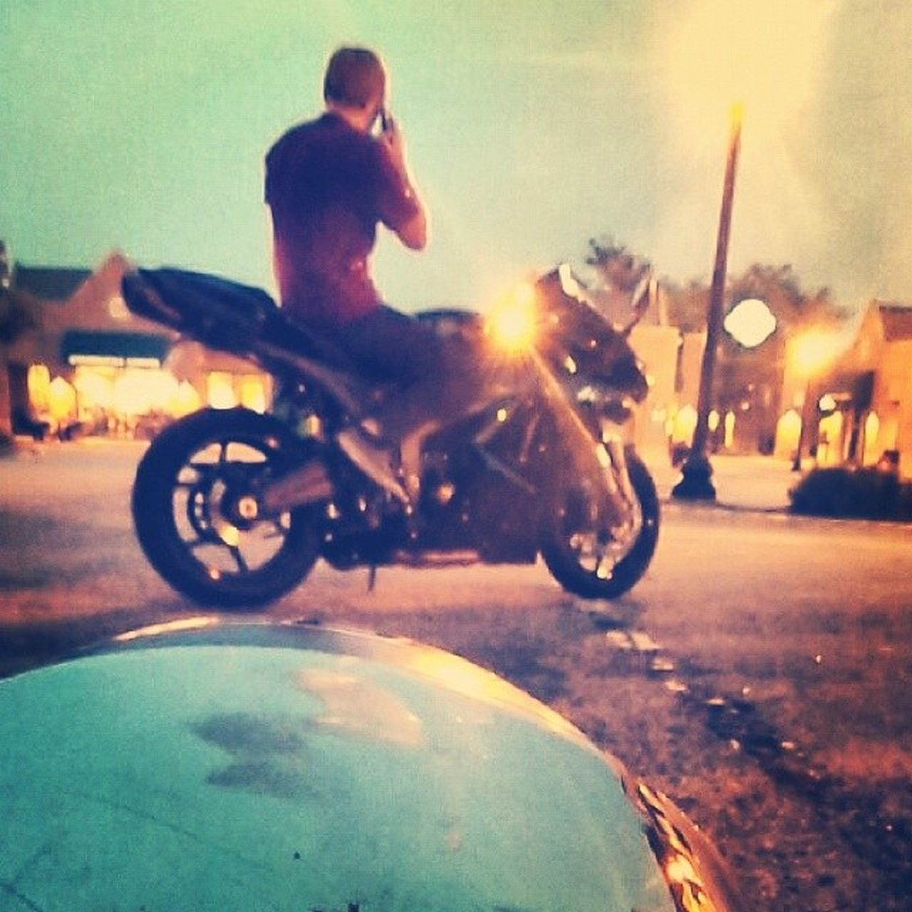 real people, street, one person, outdoors, transportation, men, motion, motorcycle, day, full length, city, sky, close-up, one man only, people