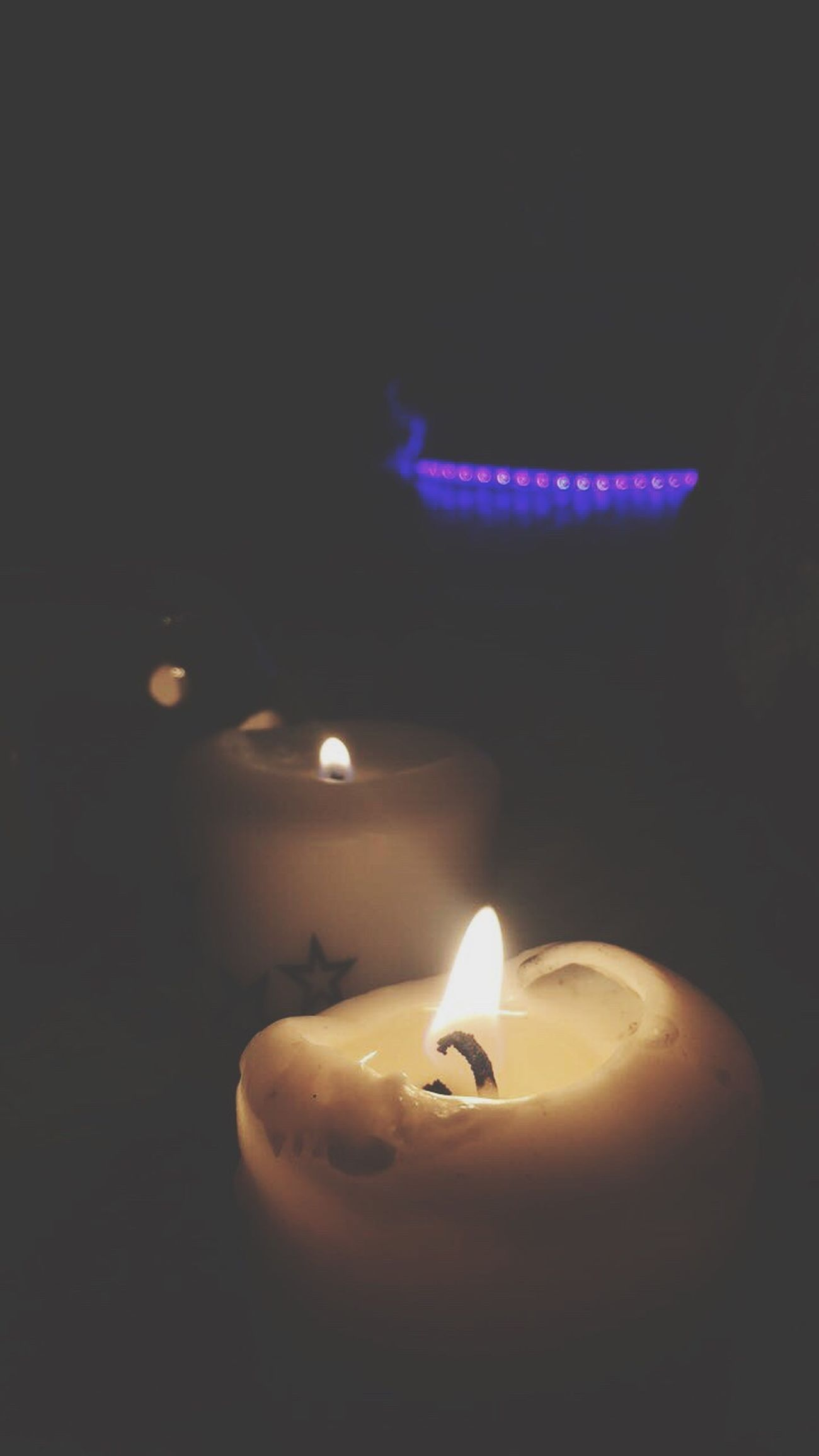 Adult Burning Flame Fire - Natural Phenomenon Candle Heat - Temperature Glowing Illuminated No People Close-up Lighting Equipment Indoors  Tea Light