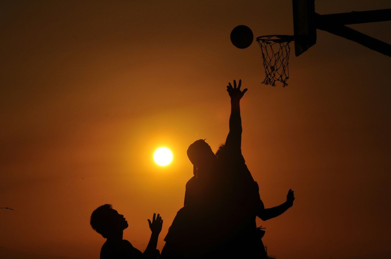Beautiful stock photos of basketball, Basketball, Basketball Hoop, Jumping, Low Angle View