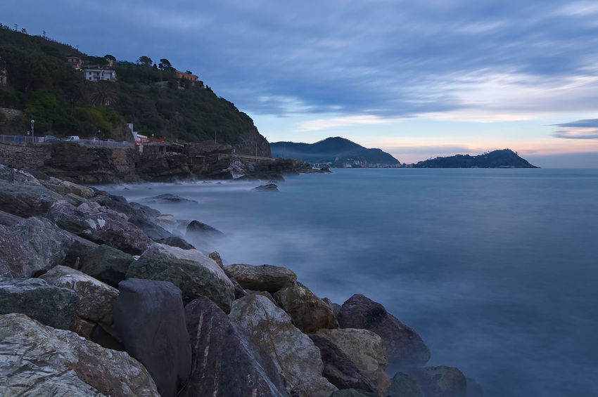 Sunset on Ligurian sea - Tigullio gulf - Long exposure Chiavari Cloud Portofino Rock Sestri Levante Wave Beauty In Nature Cloud - Sky Clouds Horizon Over Water Italy Landscape Lavagna Long Exposure Nature Outdoors Scenics Sea Seascape Sky Sunset Tigullio Tranquil Scene Tranquility Water