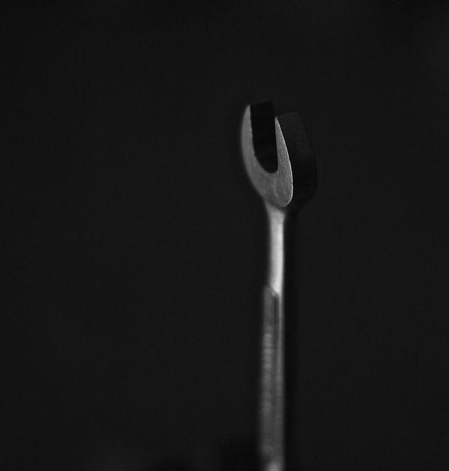 Blackandwhite Wrench  Tool Monkeywrench Still Life