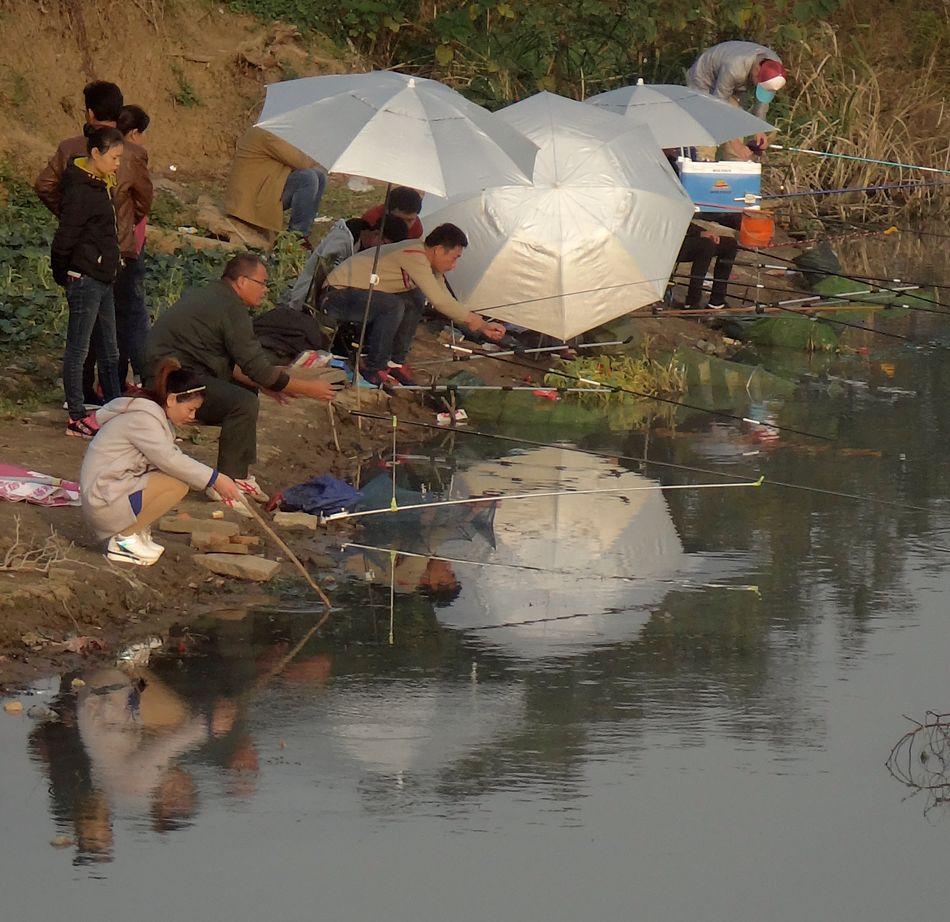 China China Beauty China Photos Culture Fisherman Reflection River Suzhou Suzhou, China Tongli Watertown