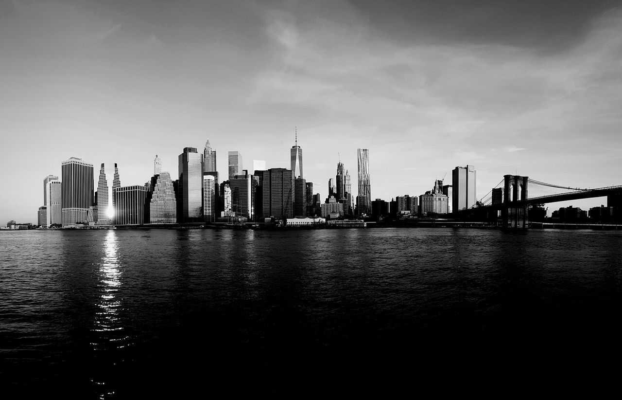 Accidental beauty. Blackandwhite Cityscapes Architecture Panorama Water Reflections Reflection EyeEm In NYC 2015 Fresh On Market 2016