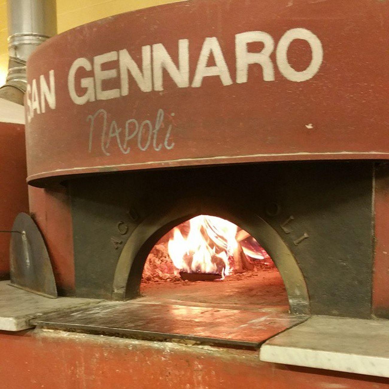 Our ovens on fire. Desanonashville DeSano Desanopizza