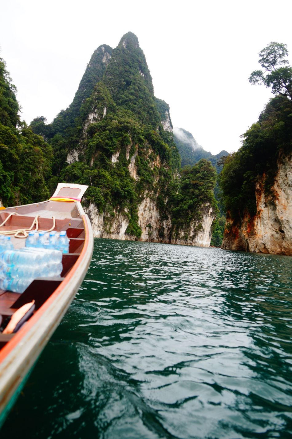 Beauty In Nature Day Khao Sok Longtail Boat Mode Of Transport Moored Mountain Nature Nautical Vessel No People Outdoors Rock - Object Scenics Sea Sky Thailand Tranquility Transportation Travel Destinations Tree Vacations Water