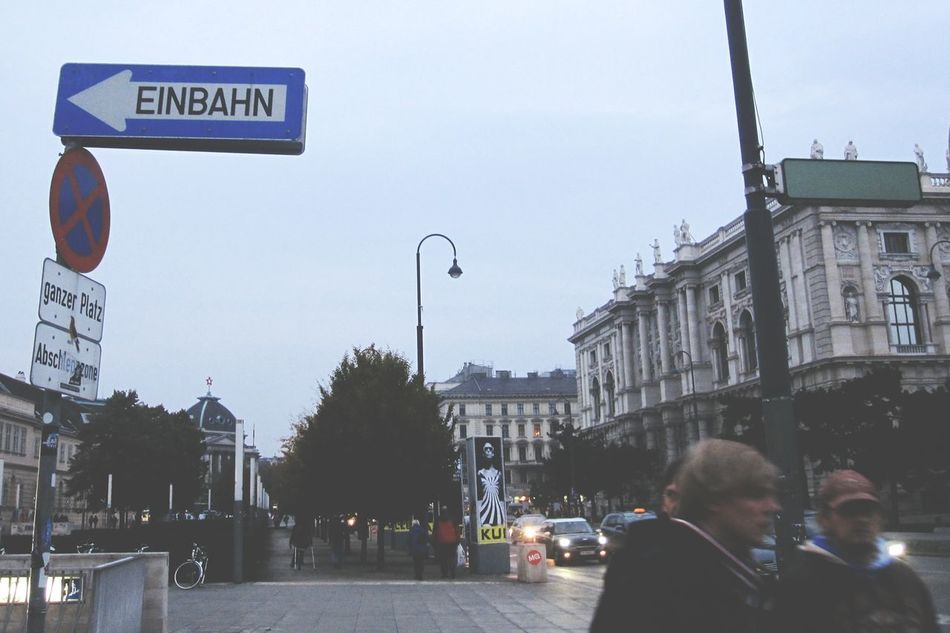 Travel Vienna Austria Memories Cityscapes Einbahn Trip City Evening