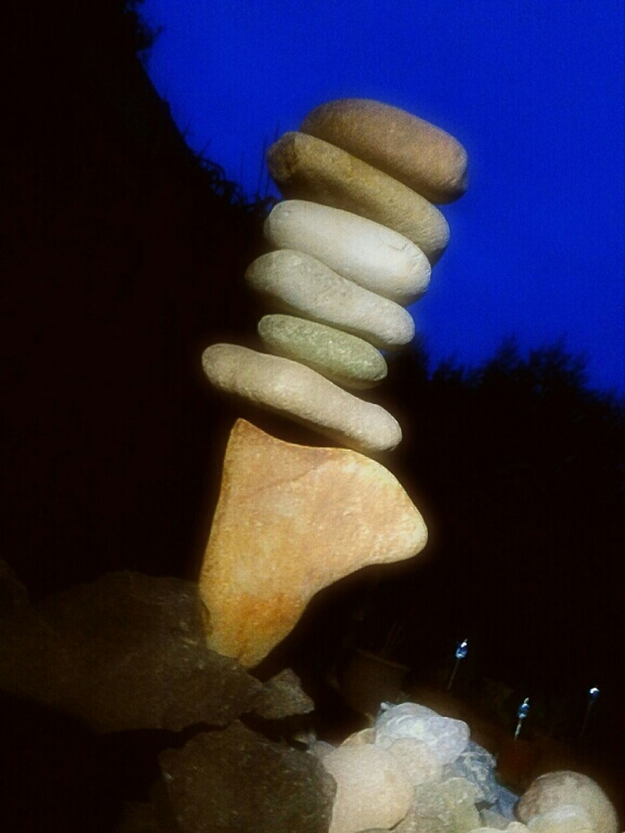 I Like Playing With Stones Rockbalancing At Night Taking Rockbalancing To A Higher Level