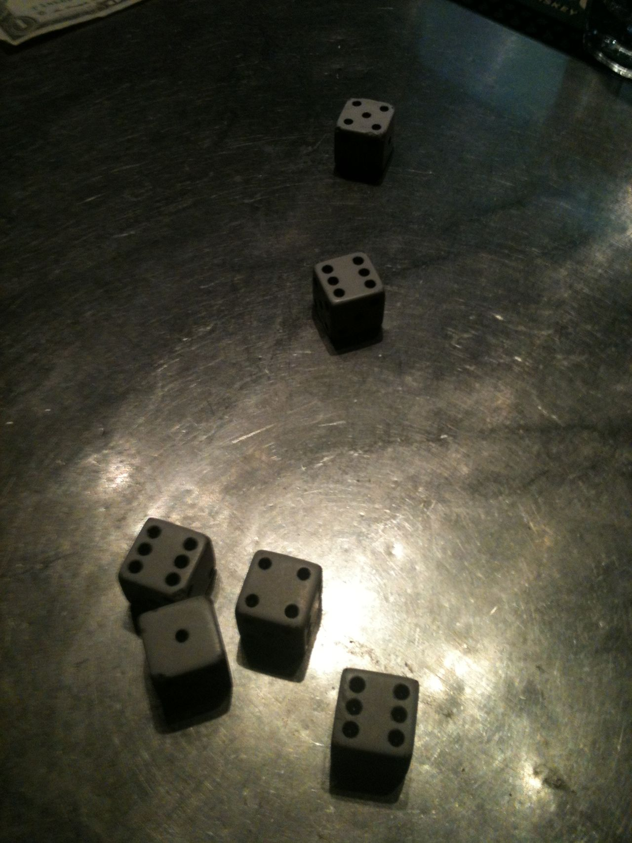 Easy winnings. 1-4-24 Close-up Control Dice Direction High Angle View Information Metal Still Life Table Textured  Winner