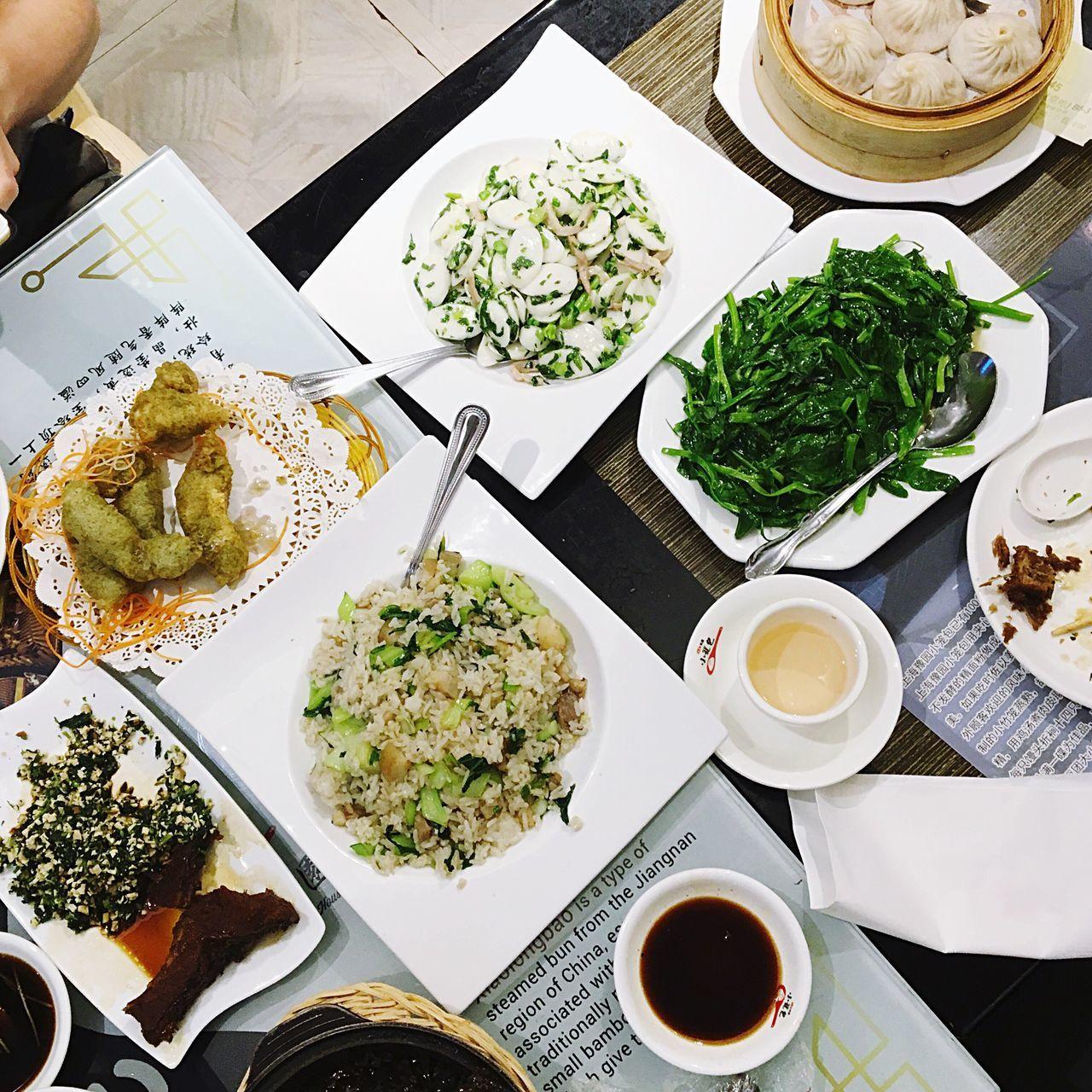 Shanghainese Food Ricecake Friedrice Soupdumplings