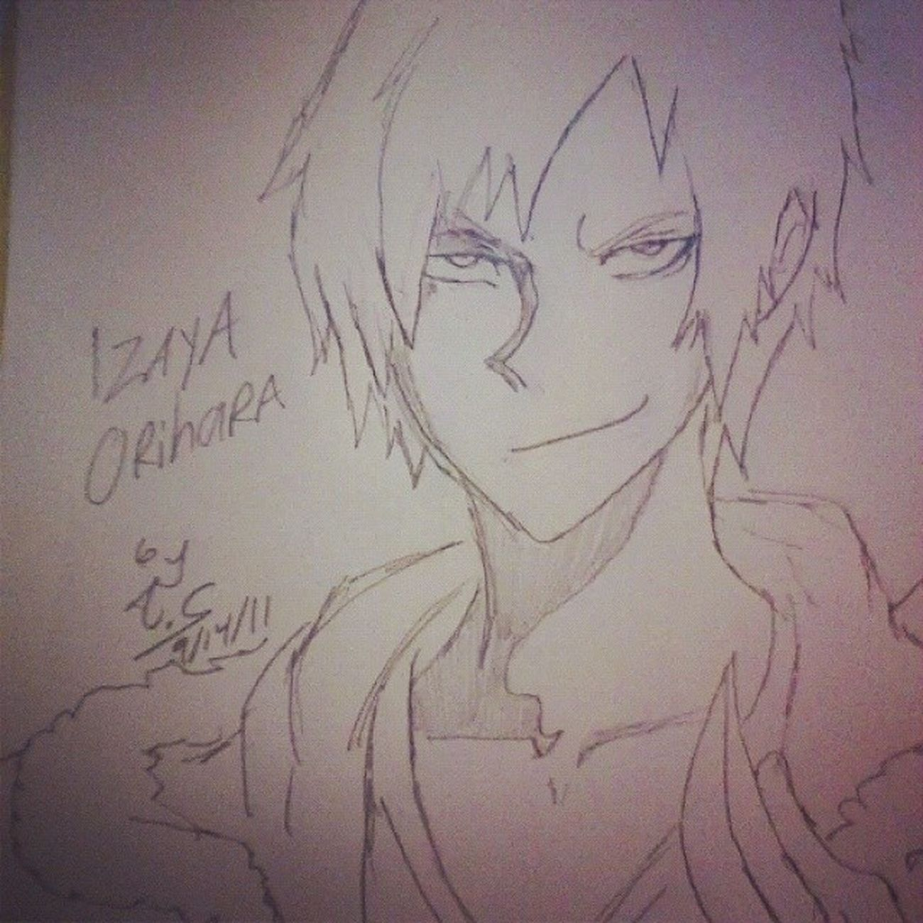 Old sketch of Izaya from Durarara Anime Durarara Sketch Art IzayaOrihara