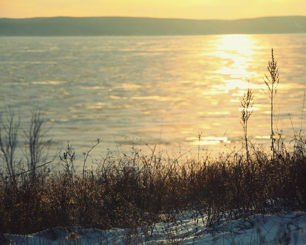 Wonderful winter evening on Volga river, Russia. Winter Sunset Sunset_collection Landscape Landscape_Collection Landscape_photography River River View