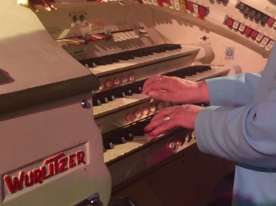 Getting Creative Playing Music Wurlitzer Age Is Just A Number Love a very close friend playing a very famous Theatre Organ, this is a true passion for her and me.