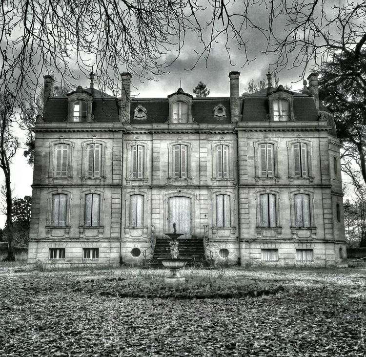 Blackandwhite Old Buildings France Manor House