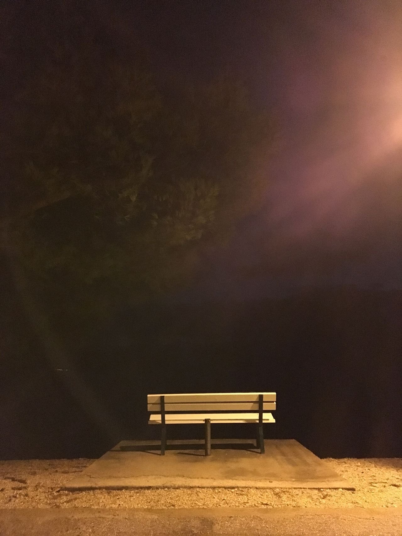 Bench Chair Landscape Minimal Night No People Outdoors Seat Surreal