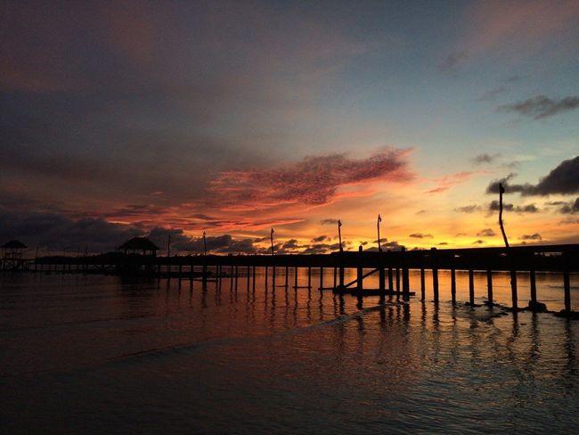 Sunrise เกาะหมาก Thailand Sea Colorful