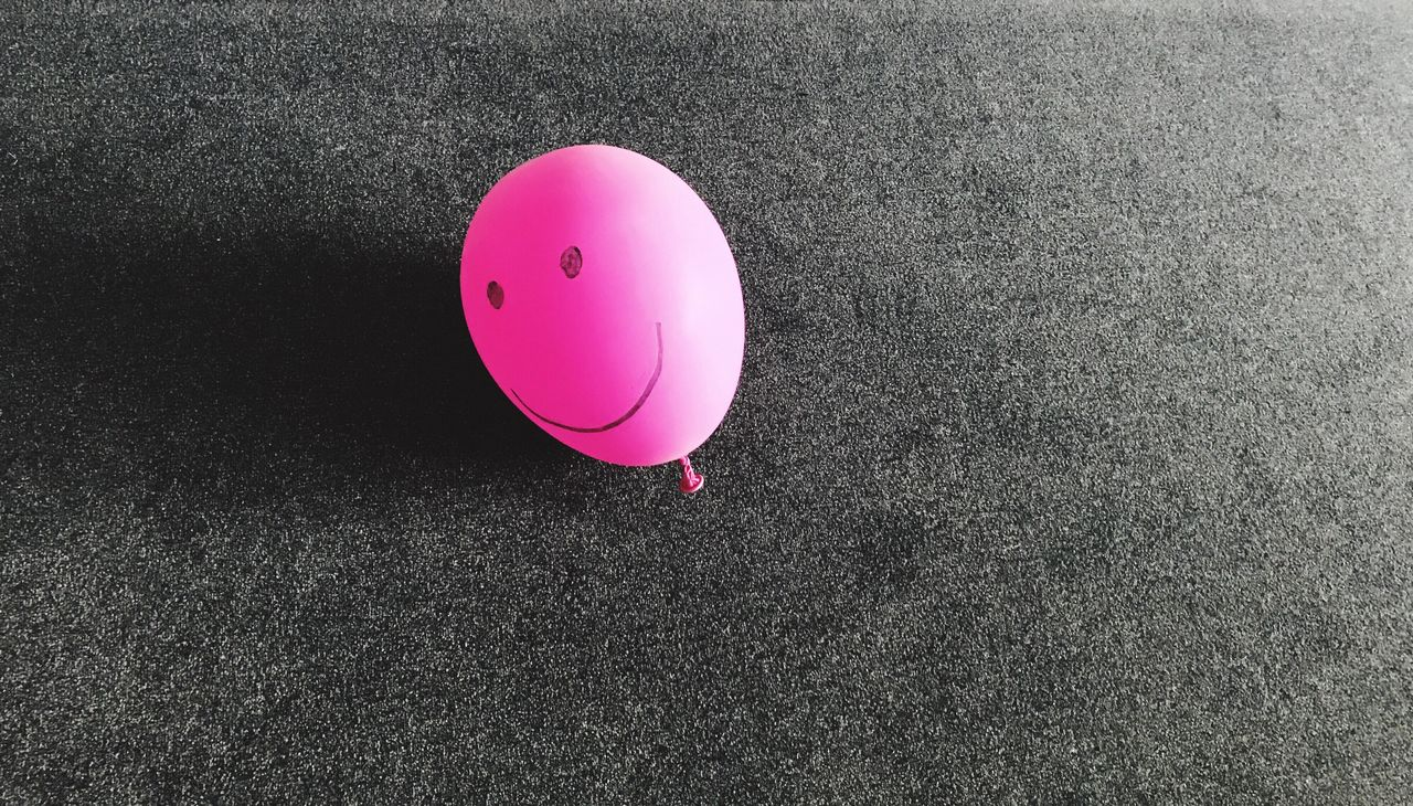 Pinky Millennial Pink Pink Color Balloon Smile Ball Still Life Grey Backgrounds Arts And Crafts Happy Contrast EyeEm Gallery Enjoying Life Light And Shadow