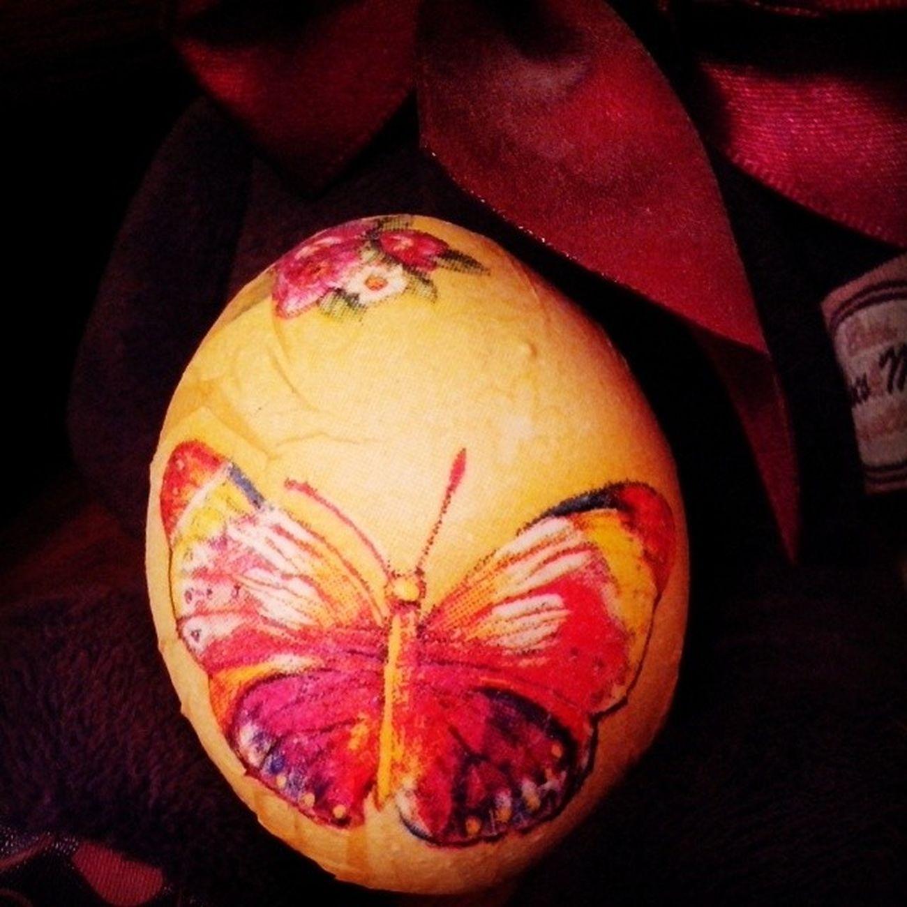 пасха яйцо декупаж