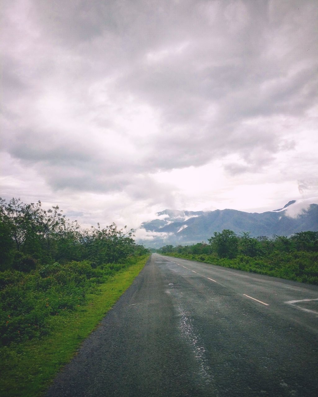 road, the way forward, sky, landscape, diminishing perspective, nature, cloud - sky, transportation, no people, mountain, scenics, day, outdoors, tranquility, tranquil scene, tree, beauty in nature