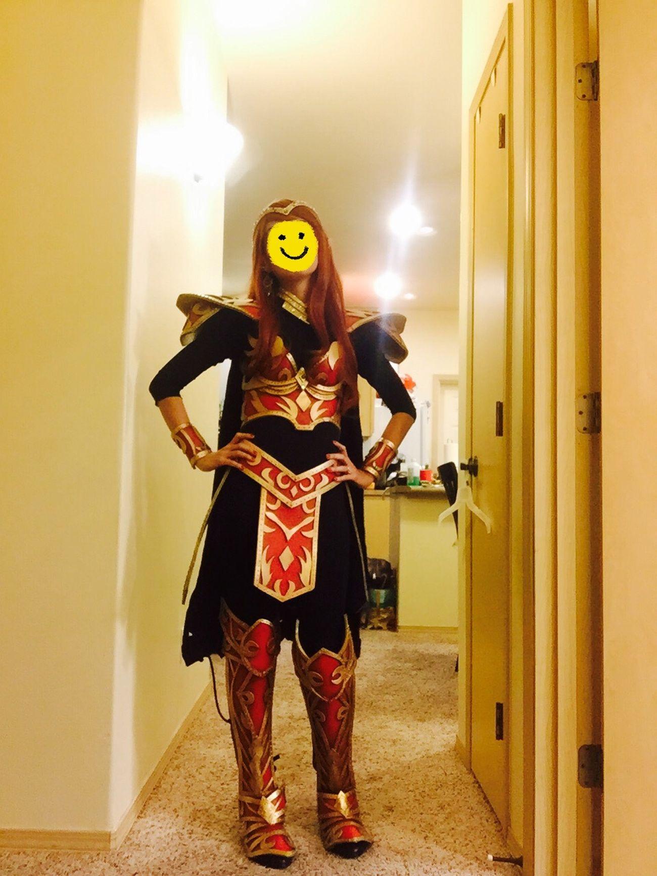 Not feeling so good but I still dressed up. Happy Halloween everybody! :) Halloween Happy Halloween Handmade Armor Elf Warcraft Foam Craft Art My Hobby