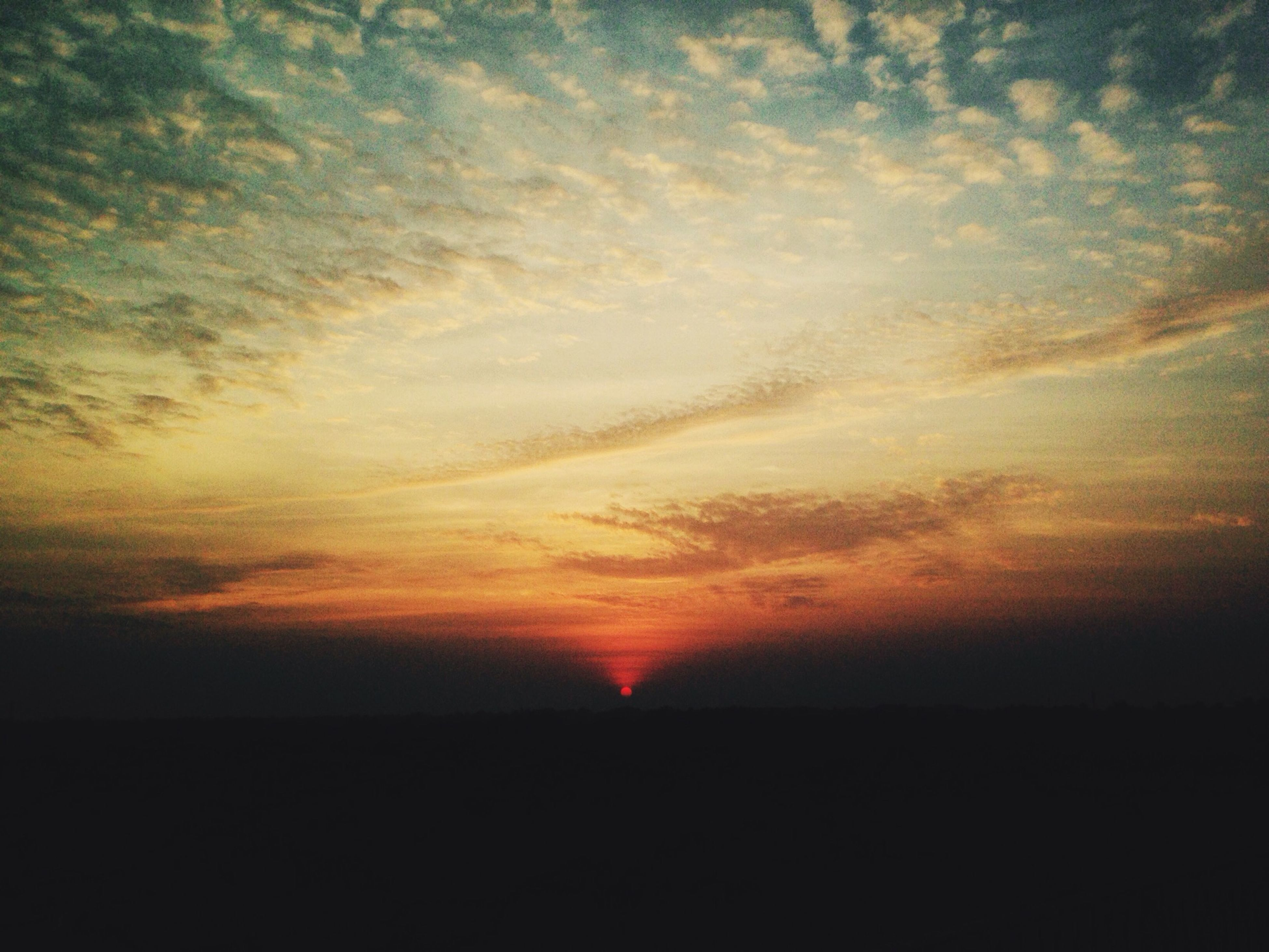 sunset, silhouette, nature, no people, beauty in nature, tranquility, sky, scenics, outdoors