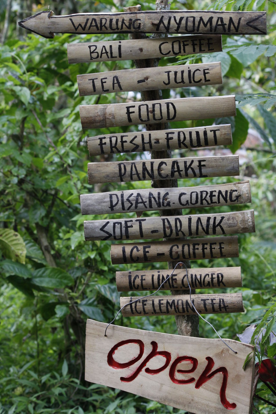 Click Click 📷📷📷 Close-up Eye For Detail Eye For Details Freshness Handmade Hello Bali Hello World INDONESIA Information Information Sign Message Non-western Script Outdoors Rainforest Read Signboard Taking Photos Text Throughmyeyes