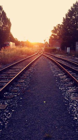 Dettenhausen Sonnenuntergang Schienen Bahnhof Train Sunset First Eyeem Photo