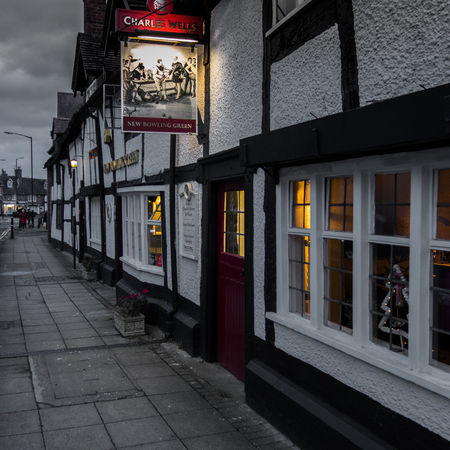 New Bowling Green pub Absence Architecture Built Structure Corridor Door Doorway Entrance Glass Narrow Old Pubs Perspective Pubs Sign Warwickshire Pubs Window