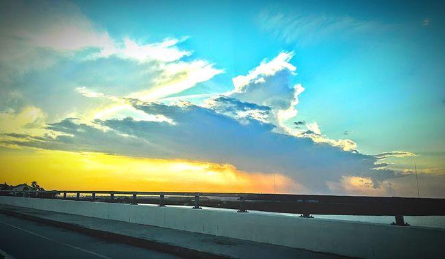 Charleston SC Sky Sunset Beauty In Nature Outdoors Scenics Nature Sunbeam Cloud - Sky Sea No People Sun Day Bridge Sunset Road