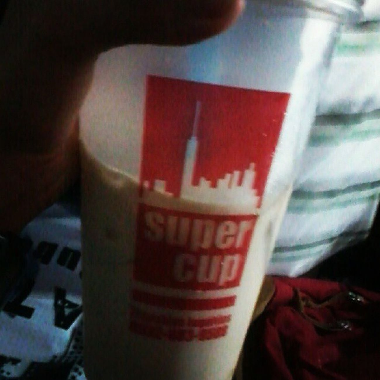 My first Milktea bought from Supercup wow Moneyburn FebFair