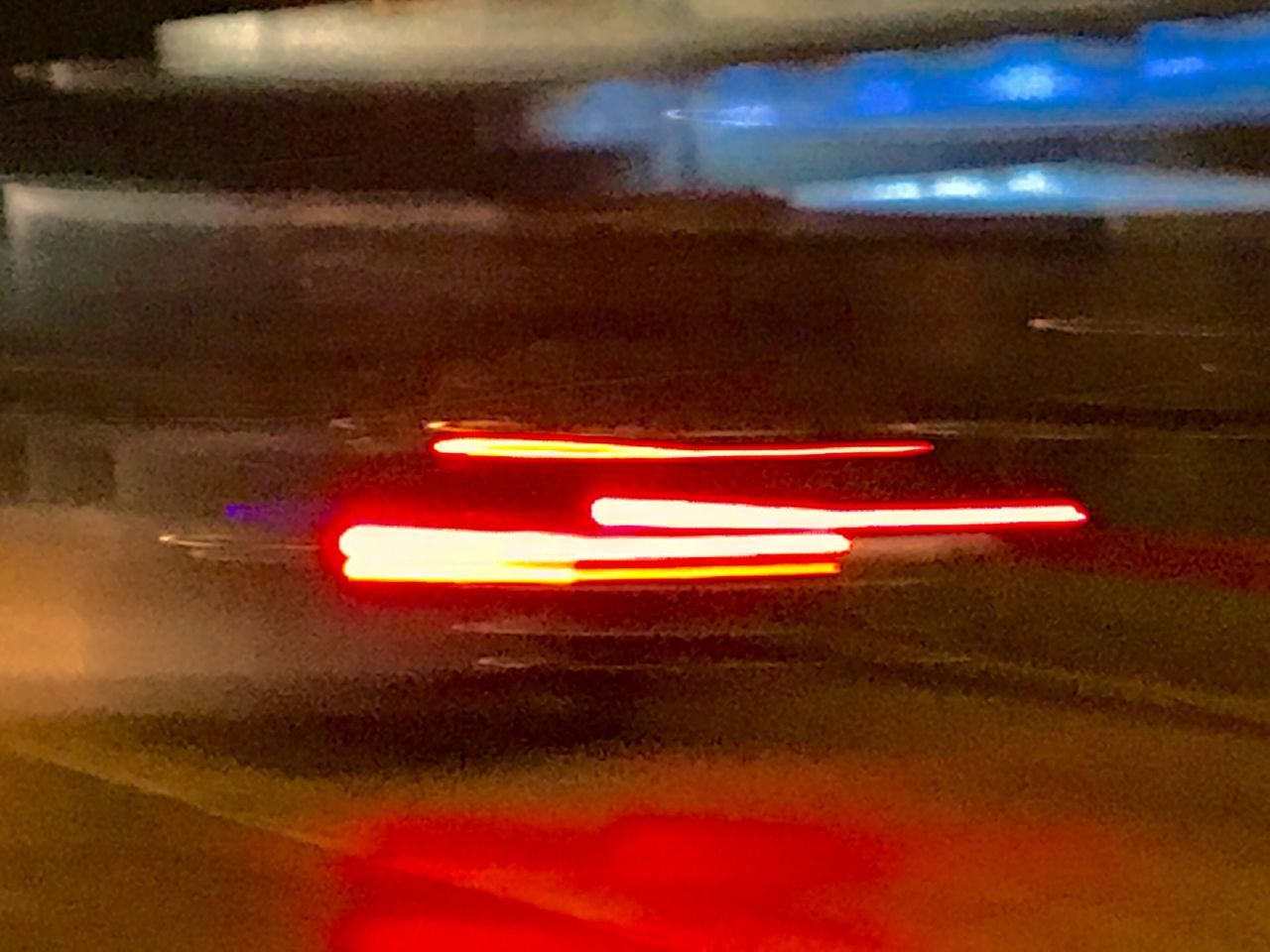 illuminated, car, speed, transportation, night, road, blurred motion, on the move, land vehicle, motion, mode of transport, street, traffic, red, car point of view, light trail, travel, the way forward, car interior, no people, driving, outdoors, defocused, city, close-up