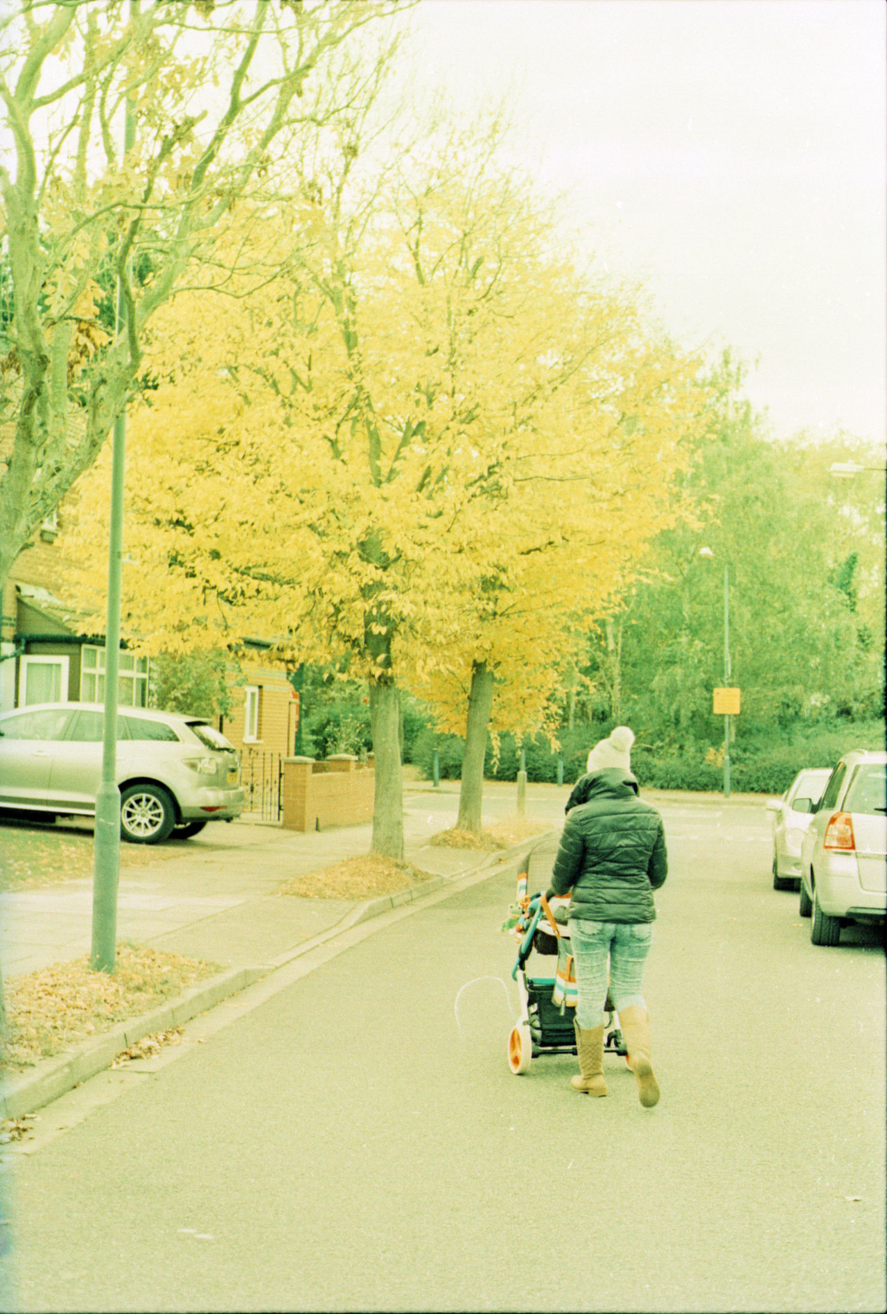 Autumn Color 35mm Film Agfa CT Precisa 100 Autumn Autumn Colors Car City Colors Crossprocess Day Film Film Photography Filmcamera Ishootfilm Land Vehicle Mode Of Transport Mother On The Move Outdoors People Real People Road Transportation Tree Two People Yellow