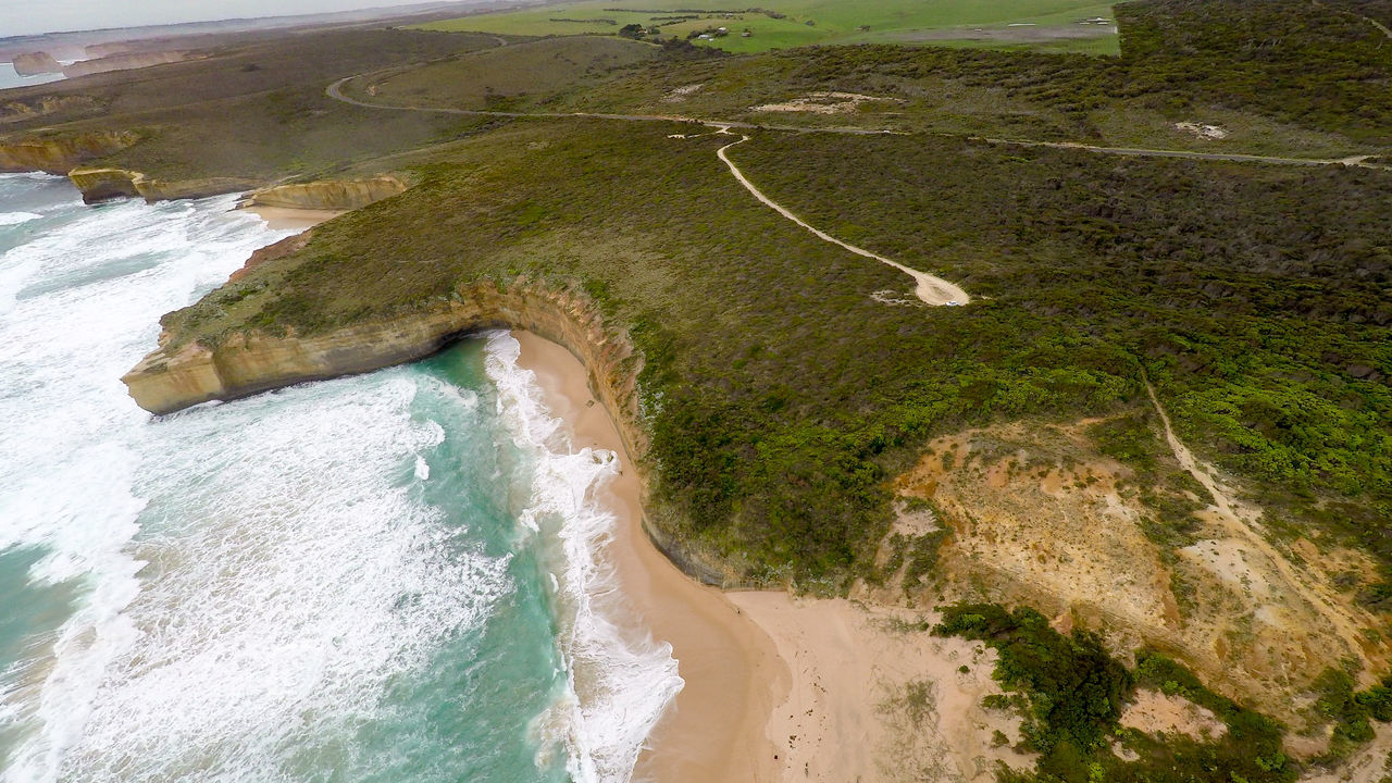 Aerial view of coastline in Australia Adventure Aerial Photography Aerial View Australia Beach Beauty In Nature Coastline Eco Tourism Flying Flying High High Up Landscape Landscape_Collection Landscapes Nature Outdoors Scenics Travel Travel Destinations Water